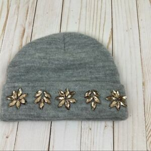 David & Young Gray Floral Hat