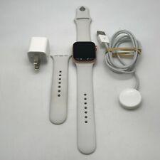 Apple Watch Series 5 Cellular Gold Sport 40mm w/ White Sport Loop Fair Condition