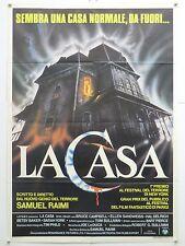 LA CASA horror Sam Raimi con Bruce Campbell manifesto orig. 1984