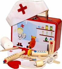 Doctor Nurse Tin Toy Medical First Aid Set Imaginary Play Educational Toypost