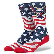 STANCE Anthem Dipset Crew Socks sz L Large (9-12) Red White Blue USA Hip Hop