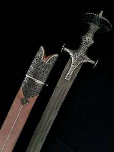 Indian Manufactured Handmade Chiseled Limited Engraved Sword With Damascus Blade