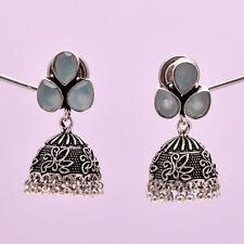 Natural garnet ruby coral emerald aquamarine black onyx earring dangle with stud