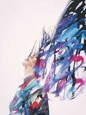 PAINTING ABSTRACT PORTRAIT MODEL PAINT HAIR LARGE WALL ART PRINT POSTER LF2066