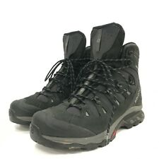 Salomon Men's Walking Hiking Boots Size UK 12.5 Black Gore-Tex Lace-Up 301096