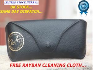 NEW RAY BAN BLACK SUNGLASSES  CASE & CLOTH