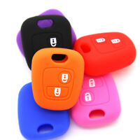Soft Car Key Cover Silicone Remote Peugeot 206 307 107 For Peugeot 206 307 107