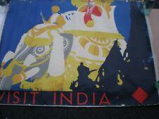Visit India Original Vintage Poster by TOM PURVIS