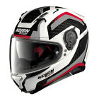 CASCO INTEGRALE NOLAN N87 N-87 ARKAD N-COM - 43 Metal White TAGLIA XL