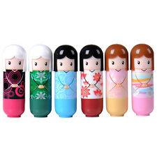 1 x Clear Sweet Smelling Moisturising Lip Balm - Cartoon Chinese Kimono Doll