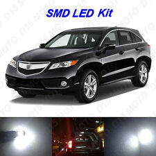 16 x White LED Interior Bulbs + Reverse + Tag Lights for 2013-2016 Acura RDX