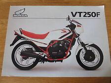 Honda VT250F Motorcycle Sales Brochure 1983