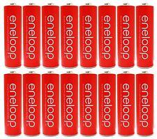 "16 PK Panasonic Eneloop AA 2100 Cycle PreCharged Rechargeable Batteries ""Red"""