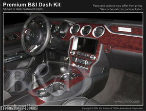CARBON FIBER DASH KIT FOR FORD MUSTANG 2015-2019 WITH 4 VENTS IN DASH