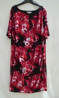Anthology asymmetric neck floral short sleeve stretch lined dress Size 26