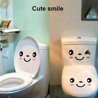 Bathroom Wall Toilet Decor Decals Removable Sticker Seat Stickers HS