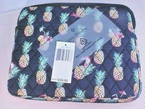 Vera Bradley Tablet Sleeve Toucan Party 15223-Q60 Zipper Quilted Travel Storage