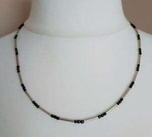 Small Grey Bead Surfer necklace