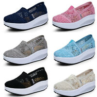 Women's Sneakers Walking Sports Lace Platform Shoes Shape Ups Toning Fitness