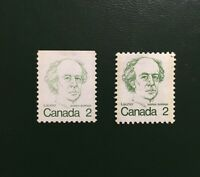 "Stamps Canada Sc587viii 2c MNH booklet single ""Missing color"" variety -1976"