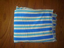 "Waverly Screen Print Fabric Blue & gold striped 45"" x 2 yds 32"" preshrunk poplin"