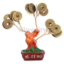 Chinese Fortune Money Tree Coin Buddhist Blessed Feng Shui Lucky Home Decor