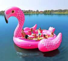 6-8person Huge Flamingo Pool Float Giant Inflatable  Swimming Pool Floating Boat