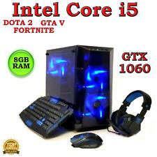 GAMING PC DESKTOP COMPUTER INTEL CORE i5 QUAD 8GB RAM NVIDIA GTX 1060 WINDOWS 10