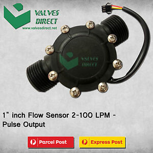 "1"" inch Flow Sensor 2-100 LPM - Pulse Output (Suitable for WaterMe Controller)"