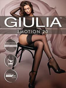 Giulia Emotion 20 Lace Top Sheer Hold Ups 20 Denier Soft Sheen