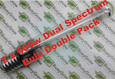 2 x 600W HPS Dual Spectrum Grow Light Bulb Lamp Hydroponics DOUBLE PACK