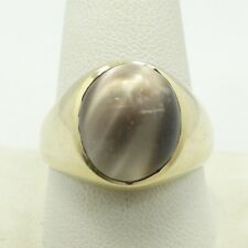 Very Nice 10K Yellow Gold 14.5mm Metalic Cabochon Gem Ring Size 11 6.5g D6876
