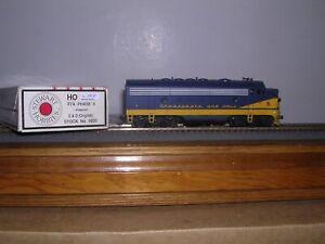 STEWART #9220  Chesapeake& Ohio EMD F-7A Phase II Diesel Loco NO # H.O. 1/87