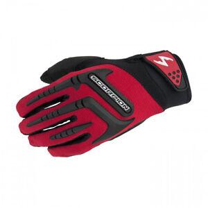 Scorpion Mens Red/Black Skrub Textile Mesh Motorcycle Gloves