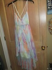 NEW Free People COCKTAIL DRESS S BEADED Sea Gypsy Sequins Tunic Shirt Top