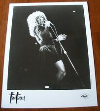 Vintage Tina Turner 8x10 B&W Press Photo Capitol Records 1987