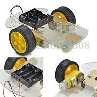 2WD 1:48 2 motor Smart Robot Car Chassis Kit/Speed Encoder Battery Box Arduino