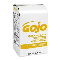 GOJO Gold & Klean Antimicrobial Lotion Soap Refill Cleant Scent 806384