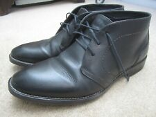 Johnson & Murphy black ankle boots lace up 9.5 UK 10.5 USA 44 Euro pre worn