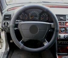 Lenkrad Bezug echtes Leder schwarz passend für Mercedes Modelle 37-39 cm