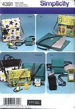 Simplicity 4391 Laptop Phone Organizer 8 Bag Patterns