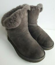 Ugg Bailey Button Grey Pull On Boots UK 5.5, EU 38