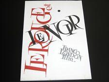 Vtg 1950s Le Rouge et Le Noir Franco London Film Movie Promo Brochure Booklet