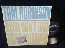 "Tom Robinson ""Rikki Don't Lose that Number/Cabin Boy"" 12"" Single UK PRESS"