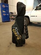 King Cobra Golf Staff Cart Bag Black With Rain Cover In Very good condition