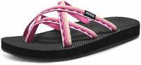 ATIKA Women's Sandals, Water Beach Flip Flops, Arch Support Platform Sandals,