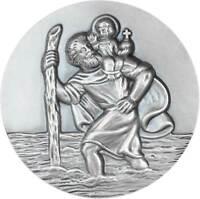 Schutzpatron Alu Plakette St Christopherus Christophorus Jesuskind Glücksbringer