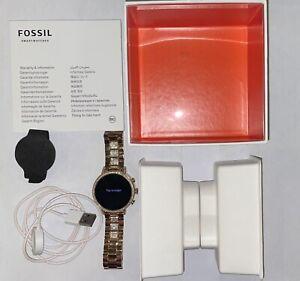 Fossil Women's Gen 4 Q Venture HR Stainless Steel Smartwatch - Rose Gold - USED!