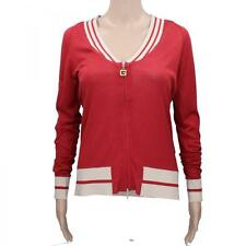 cardigan donna GUESS JEANS S rosso seta dif. AN408