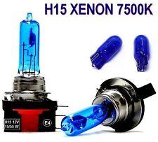 H15 Xenon bombillas 12v 7500 Kelvin Golf VI t5 Xenon Look incl. luz interior